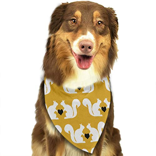 OURFASHION Loving Squirrels Bandana Triangle Bibs Scarfs Accessories for Pet Cats and Puppies.Size is About 27.6x11.8 Inches (70x30cm). -