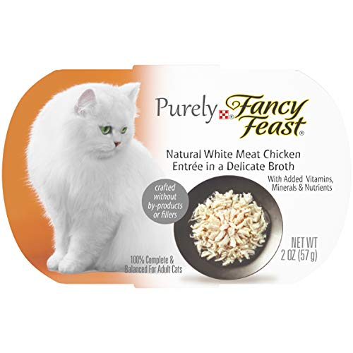 Natural Foods Chicken - Purina Fancy Feast Natural, Grain Free Wet Cat Food, Purely Natural White Meat Chicken Entree - (10) 2 oz. Trays