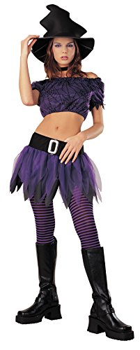 Disguise Women's 'Wicked Witch' Halloween Costume, Purple/Black, 7-9 - Cheap Spiderman Costumes Adults