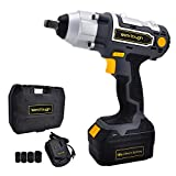 Cheap Uniteco Cordless Impact Wrench 1/2-Inch 18V Battery Operated Impact Wrench With 3.0A Li-ion Battery IW03