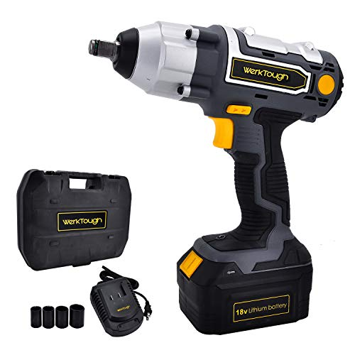Uniteco Cordless Impact Wrench 1/2-Inch 18V Battery Operated Impact Wrench With 3.0A Li-ion Battery IW03