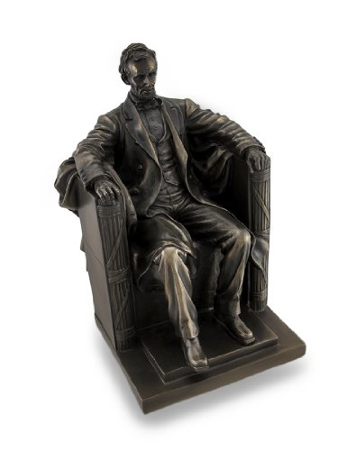 Veronese Design Seated Abraham Lincoln Bronzed Historical Sculptural Statue