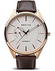 BERING Time 16243-564 Men Automatic Collection Watch with Calfskin Strap and scratch resistent sapphire crystal...