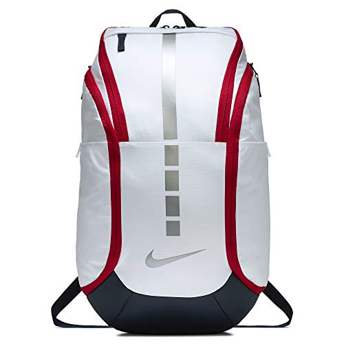 Nike Hoops Elite Hoops Pro Basketball Backpack White/Obsidian/Red