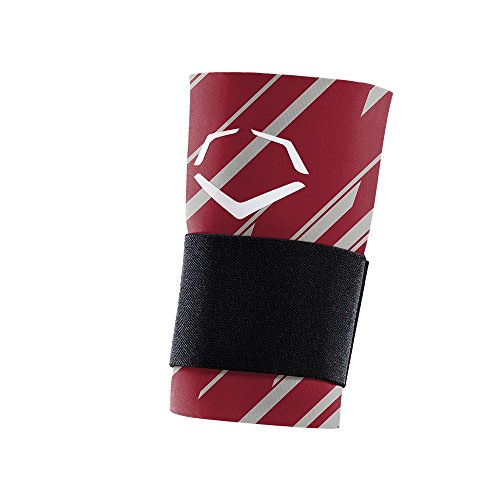 EvoShield MLB Speed Stripe Wrist Guard with Strap, Maroon, - Shield Straps