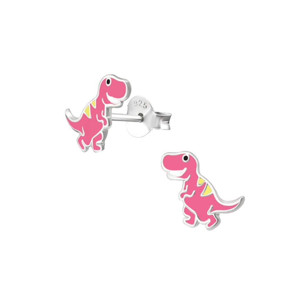 Dinosaur Colorful Ear Studs 925 Sterling Silver