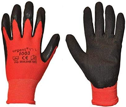 12 pairs URGENT1003 Safety work gloves builders mechanics size 11 gardening