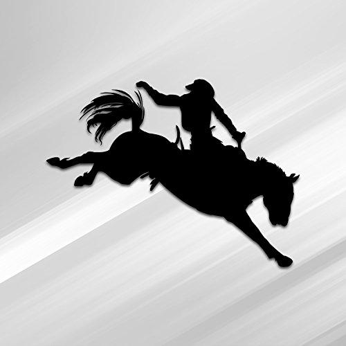 Vincit Veritas Rodeo Ride Cowboy Black Vinyl Decal Sticker | Premium Quality | 5.5-Inches | D027-B
