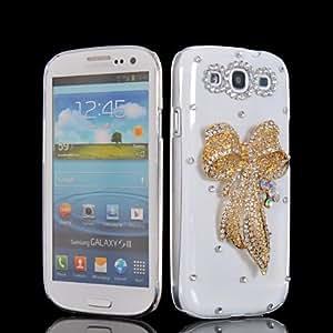HKCFCASE Luxury Bling Rhinestone Crystal Diamond Hard Back Shell Case Cover For Samsung Galaxy S3 I9300 185
