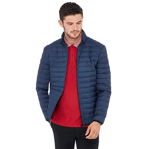 Racing Green Men Navy Padded Jacket