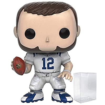 Funko Pop! NFL: Indianapolis Colts - Andrew Luck #45 Vinyl Figure (Includes Compatible Pop Box Protector Case): Toys & Games