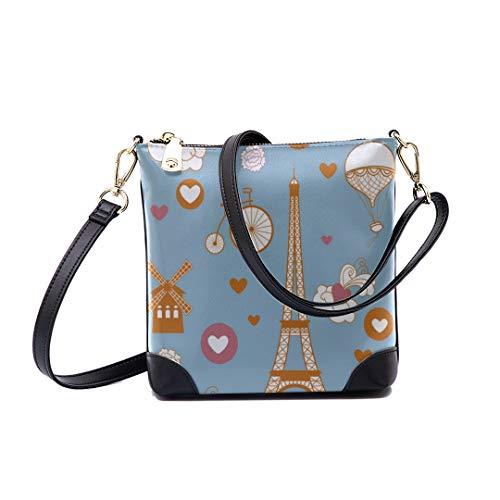 Shoulder Bag Pastel Paris For Women Bucket Crossbody