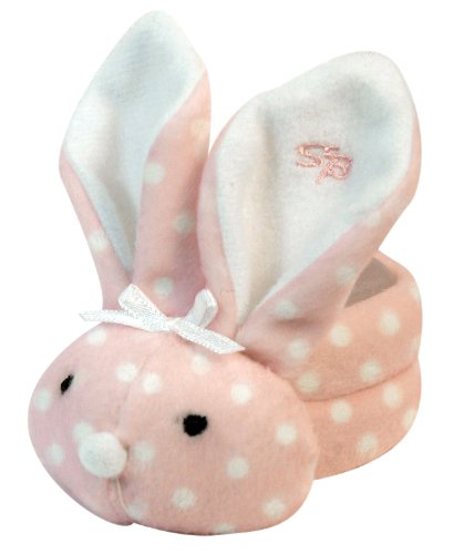 Stephan Baby Boo Bunnie Comfort Toy and Boo Cube, Baby Girl Polka Dot First Bunny