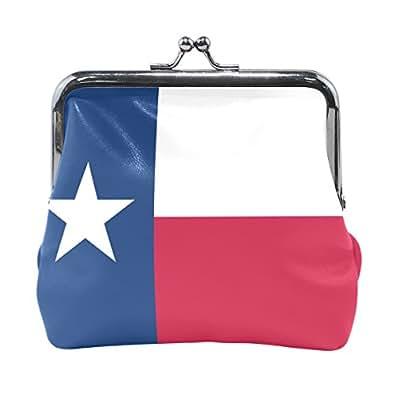 Texas State Flag Coin Purse Mini Leather Hasp Handbag