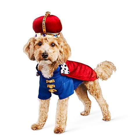 Bootique XL Majestic King Dog Costume Cape Crown Hat Gold Jewels -