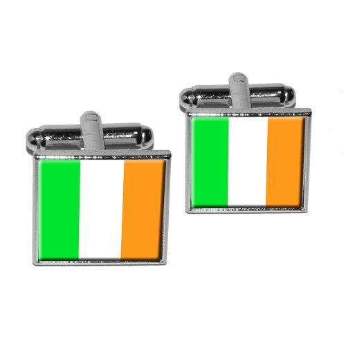 Irish Ireland Flag Square Cufflink