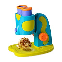 GeoSafari Jr. My First Microscope allows preschoolers to see magnified hidden worlds with ease! This fully functional microscope is the perfect introduction to a real science tool and STEM learning. My First Microscope has a range of magnification (2...