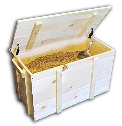 Jamaica Cottage Shop, Inc. Solid Wood Pine Pellet Storage Box Store Your Firewood Kindling