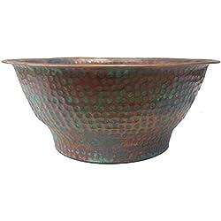Egypt gift shops Oxidized Verde Copper Hose Holder Storage Pot Container Garden Plants Flowers Planter Yard Storage
