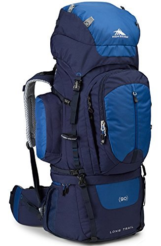 High Sierra Long Trail 90L Top Load Internal Frame Backpack Pack, High-Performance Pack for Backpacking, Hiking, Camping, with Rain Fly, True Navy/Royal/True Navy