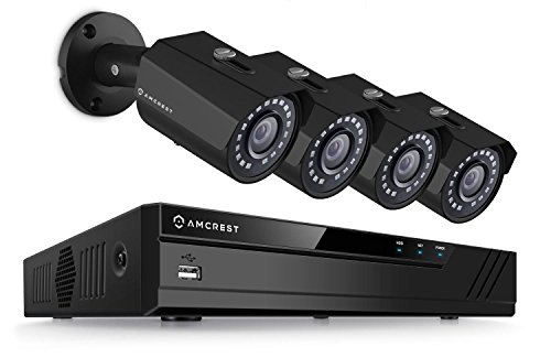 Amcrest 2-Megapixel (1920 x 1080p) 4CH Network POE Video Security System (NVR...