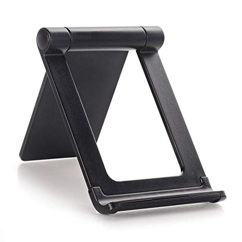 STRIFF T9-2 Multi Angle Mobile Stand. Phone Holder for iPhone, Android, Samsung, OnePlus, Xiaomi and 360 Degree rotatable(Black)