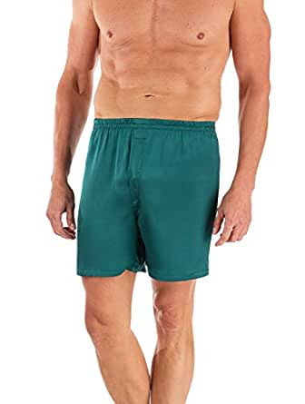 Men's 100% Silk Boxer Shorts -The Country Club (Bayberry Green, Small) Gift Ideas for Men Who Have Everything MS6101-BGN-S