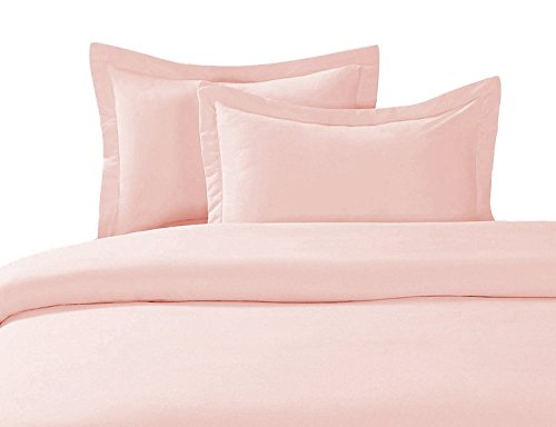 sheetsnthings 8 Piece Bed in a Bag Full Size Set Includes: 100% Cotton, 300TC Solid Blush (Sheet Set + Duvet Cover Set) + All Season White Down Alternative Comforter