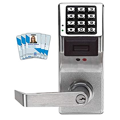 Image of Access-Control Keypads Alarm Lock Systems Inc. PDL3000 US26D Trilogy T3 Prox and Keypad Cylindrical 26D, Satin Chrome