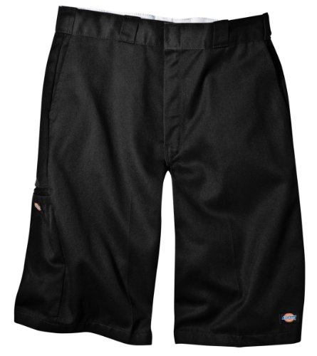 (Dickies Men's 13 Inch Loose Fit Multi-Pocket Work Short, Black 36)