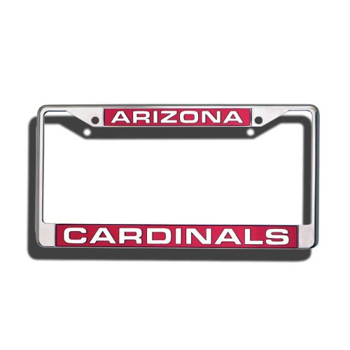 Cardinals Laser - Rico Industries NFL Arizona Cardinals Laser-Cut Chrome Auto License Plate Frame