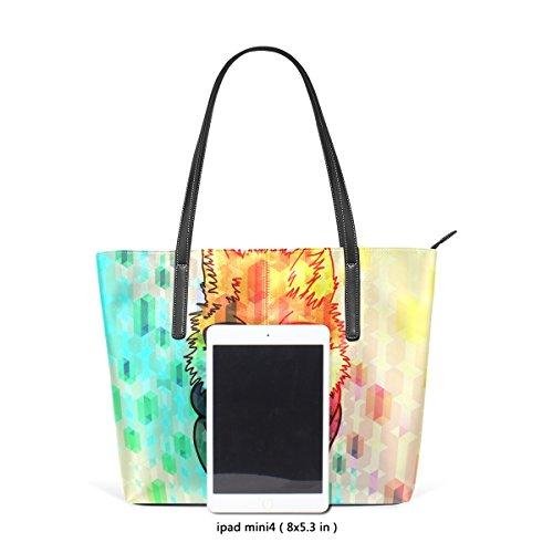 COOSUN Hipster Fashion Fox PU Leder Schultertasche Handtasche und Handtaschen Tasche für Frauen