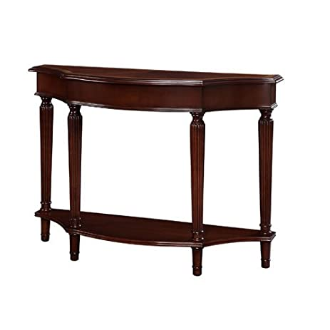Powell Masterpiece Console Table With 4 Reeded Legs With Lower Shelf
