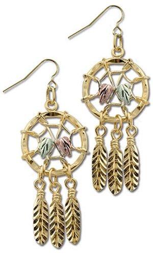 Landstroms 10k Black Hills Gold Dreamcatcher Earrings - G LER866