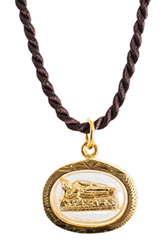 Buddha Golden Thai Amulet Pendant Weekday Birthday (Tuesday - Phra Sai Yas Reclining)