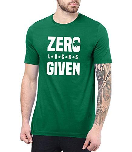 Mens Green St Patricks Day T Shirt - Irish Shirts Men | Zero Luck, S