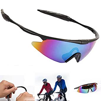 LSQtronics Men and women colorful sport sunglasses, Outdoor sport Parkour trend goggles cycling eyewear-windproof glasses-colourful