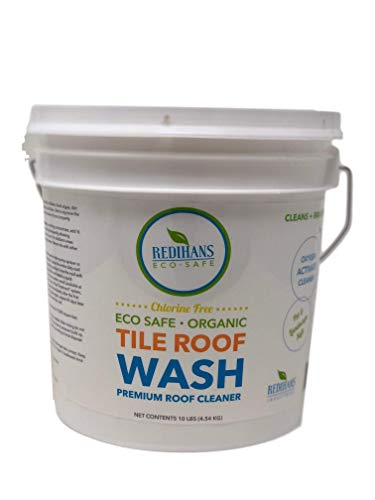 - Wash Safe Industries TILE ROOF WASH Premium Eco-Safe and Organic Tile Roof Cleaner, 10 lb Container