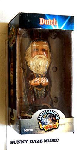 Santa Claus Decorative Hand Painted Heavy Porcelain Head Knocker Bobble - Dutch Sinter Claus - Santas Around The World - Weighs 2 Pounds