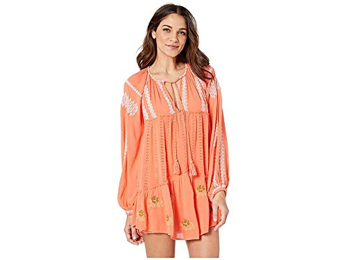 Free People Women's Wild Horses Embroidered Mini Red Small
