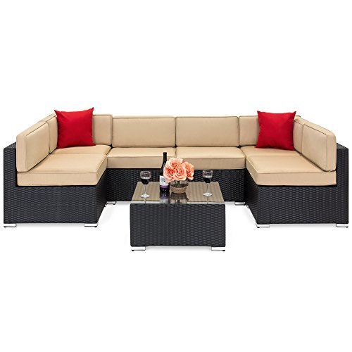 Best Choice Products 7 Piece Modular Outdoor Patio Rattan