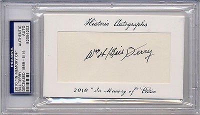 2010 Historic Autographs (Bill Terry AUTO 2010 Historic Autographs PSA DNA /14 Signed Cut Signature GIANTS)