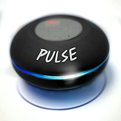 PULSE! The Next Evolution In Sound - Waterproof Bluetooth Shower Speaker - LED Wireless Portable Audio Player - Lifetime Guarantee