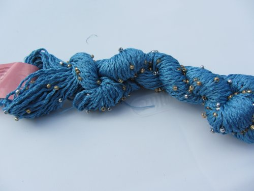 Louisa Harding Mulberry Hand Beaded Silk Yarn 37 Azure