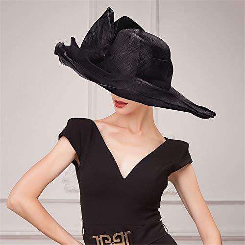 Summer Sun Hat Beach Hat Wedding hat,Stylish Three-Storey Linen hat, Casual Hemp Linen Blouse, Beach Shade hat,A