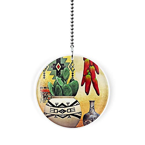 - Southwest Cactus and Chili Peppers Fan/Light Pull