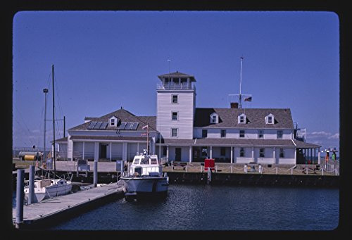 (16 x 24 Gallery Wrapped Framed Art Canvas Print of Coast Guard Station, Ocracoke Island, North Carolina 1985 Roadside Americana Ready to Hang 83a)