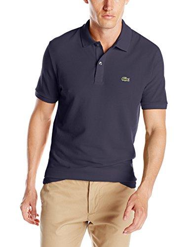 Lacoste+Men%27s+Short+Sleeve+Classic+Pique+Slim+Fit+Polo+Shirt%2C+Navy+Blue%2C+4