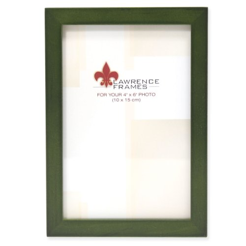 (Lawrence Frames Collection Wood Picture Frame Gallery, 4 by 6-Inch, Green)