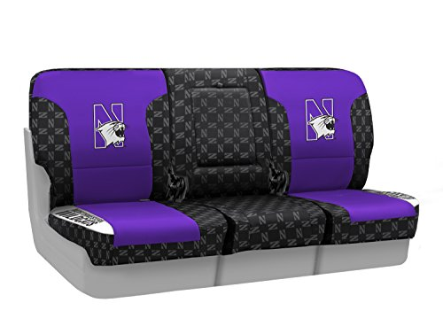 Coverking Custom Fit Front 40/20/40 NCAA Licensed Seat Cover for Select Nissan Titan Models - Neosupreme (Northwestern University) by Coverking